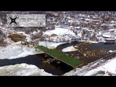 Parker Avenue bridge work as of January 2017 Massena NY