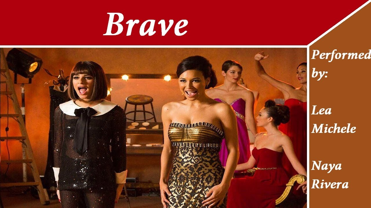 GLEE Brave with lyrics - YouTube