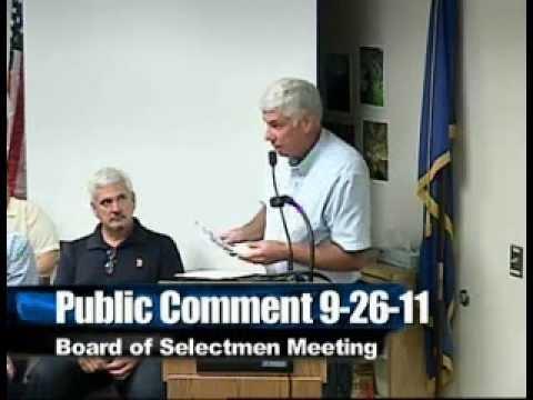 Brookfield BOS Meeting 9-26-2011
