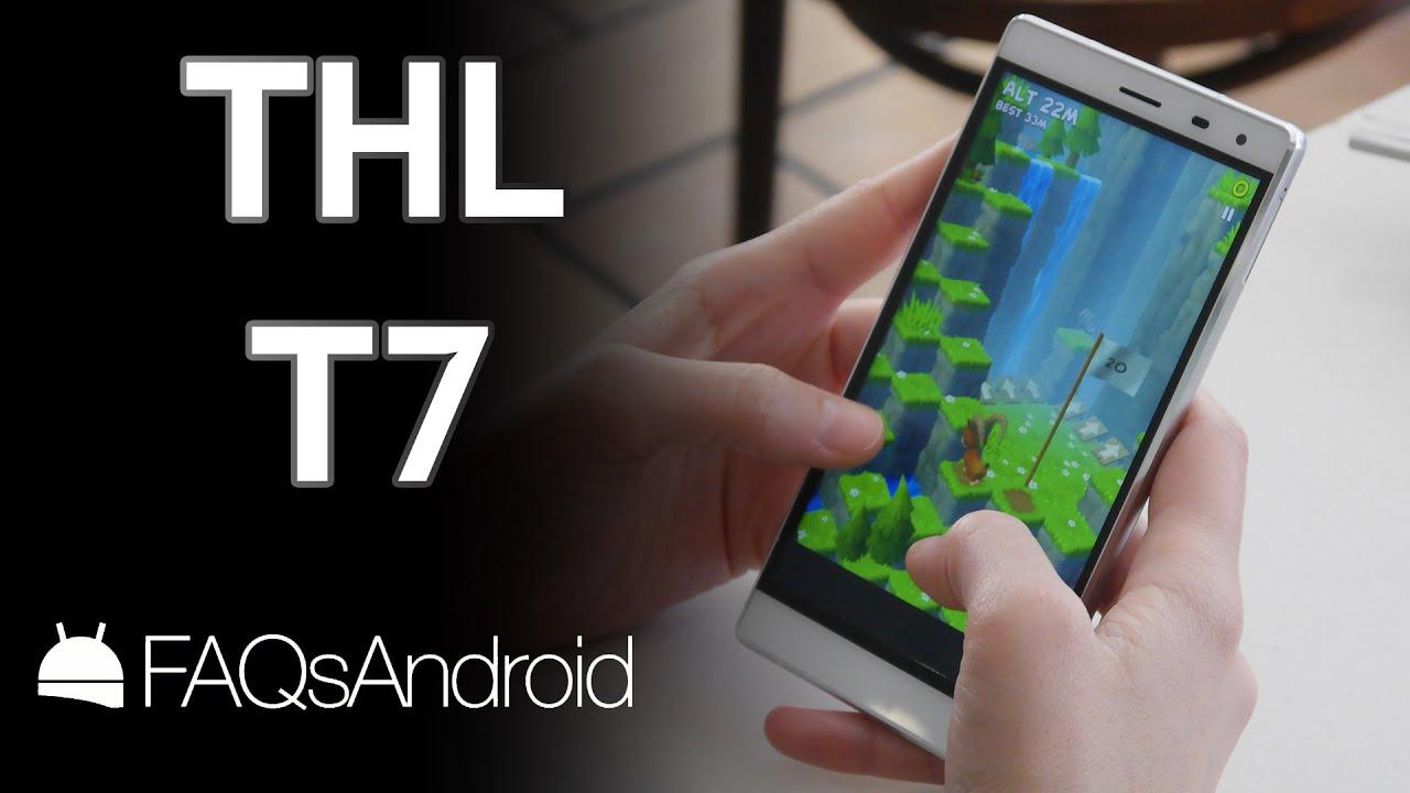 THL T7: análisis de un móvil con 4800 mAh - YouTube