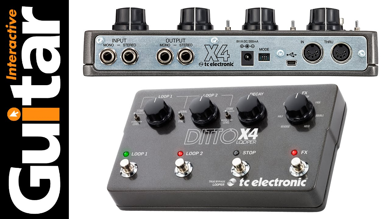 tc electronic ditto x4 looper review guitar interactive magazine youtube. Black Bedroom Furniture Sets. Home Design Ideas