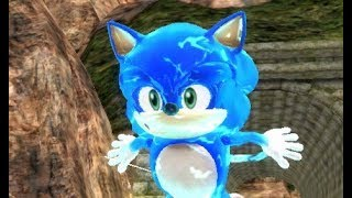 Movie Sonic in Sonic World
