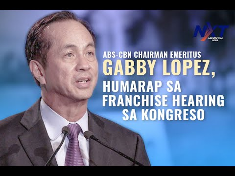 ABS-CBN Chairman Emeritus Gabby Lopez, humarap sa franchise hearing sa Kongreso | NXT
