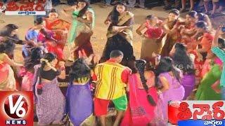 V6 Team Celebrates Bathukamma Festival  Teenmaar News  V6news