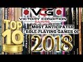 TOP 10 MOST ANTICIPATED TABLETOP ROLE-PLAYING GAMES for 2018
