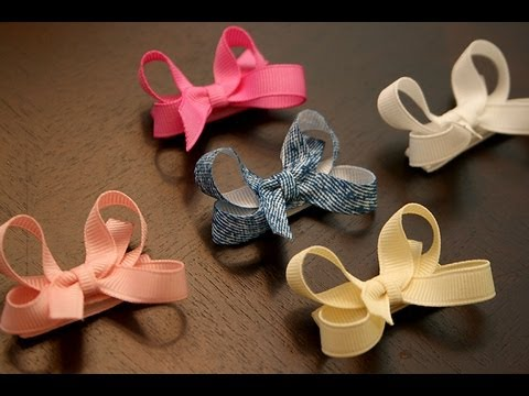 How To Make Infant Baby Hair Bows That Stay In The Hair