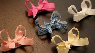 Repeat youtube video How to make infant/baby hair bows that stay in the hair (velcro bow tutorial)