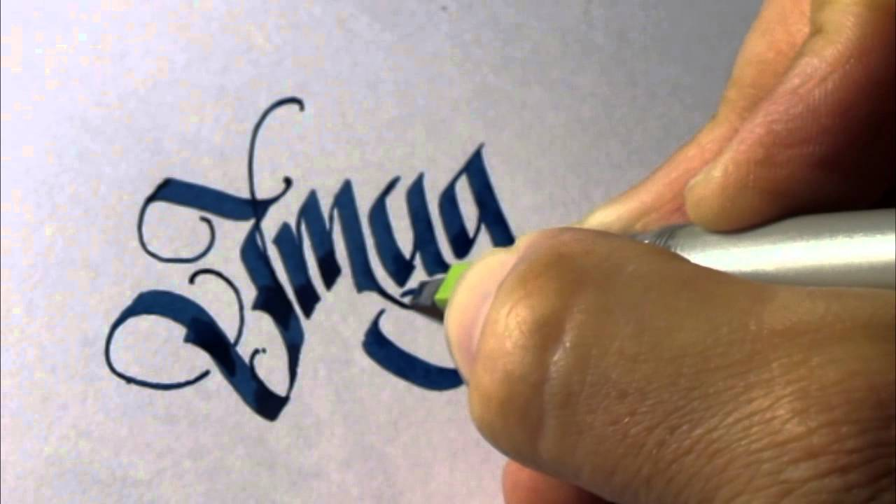 Parallel pen calligraphy imagine youtube Calligraphy youtube