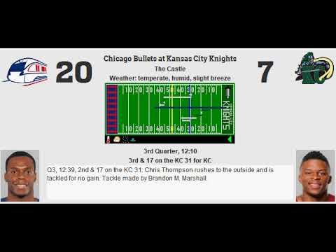 Week 6: Chicago Bullets (3-2) @ Kansas City Knights (3-2)