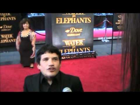 with Mark Povinelli Kinko from Water for Elephants premiere in New York