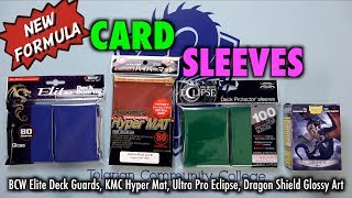 New Formula Card Sleeves Reviewed: KMC Hyper Mat, Ultra Pro Eclipse, Dragon Shield Art, BCW Elite