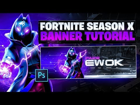 Tutorial: How To Make A CRAZY Fortnite Season 10 Banner In Photoshop! 🎨 (EASY)