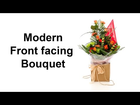 Modern front facing hand-tied bouquet - different, easy and very effective -