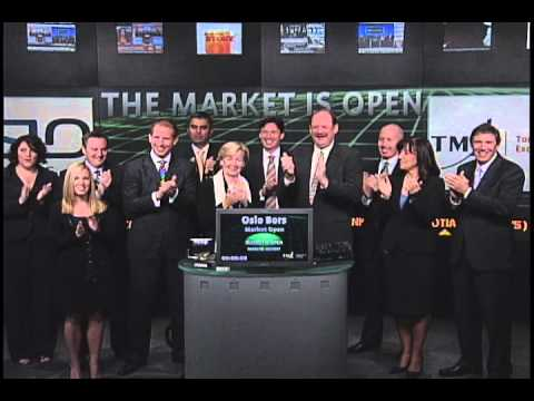 Oslo Bors open Toronto Stock Exchange, September 9, 2010.
