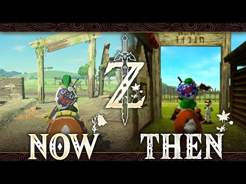 Hyrule Then and Now  Zelda: Breath of the Wild Comparis