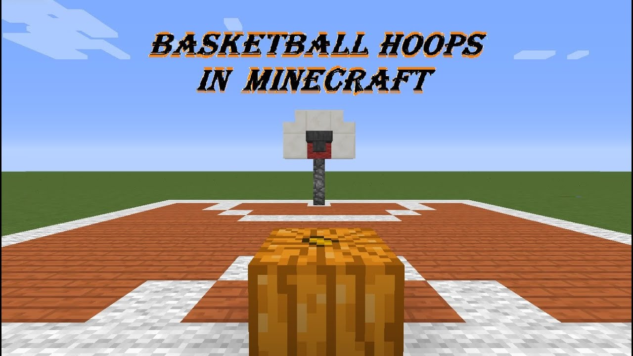 How to make a basketball hoop in minecraft pc xbox 360 for How to build a basketball goal