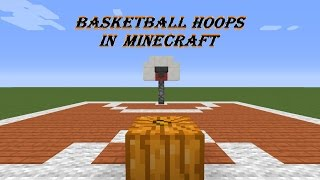 how to make a basketball hoop in minecraft pc xbox 360 xbox one ps3 ps4