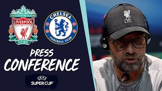Klopp, Mane and Van Dijk's pre-Super Cup press conference | Chelsea