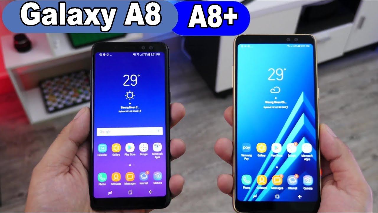 40930ee33d Smartphone Samsung Galaxy A8 e A8+ ( plus ) - YouTube