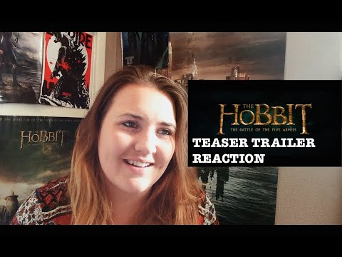 THE HOBBIT: THE BATTLE OF THE FIVE ARMIES TEASER TRAILER REACTION   Rhianna Raects