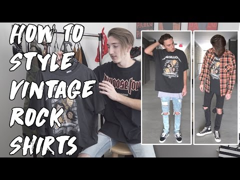 How To Style Vintage Rock Shirts