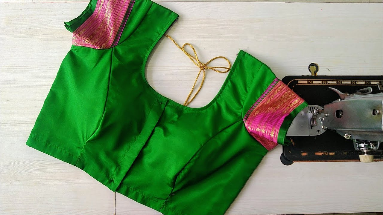 "38""size princess cut Model blouse gala design|Paithani saree border blouse design cutting and stitch"