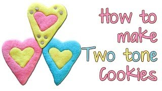 Two-tone Cookies Made With Refrigerator Cookie Dough
