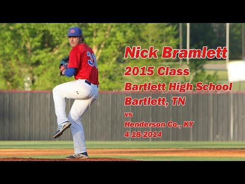 Nick Bramlett - 2015 Class - Pitching vs Henderson Co., KY 04-18-2014