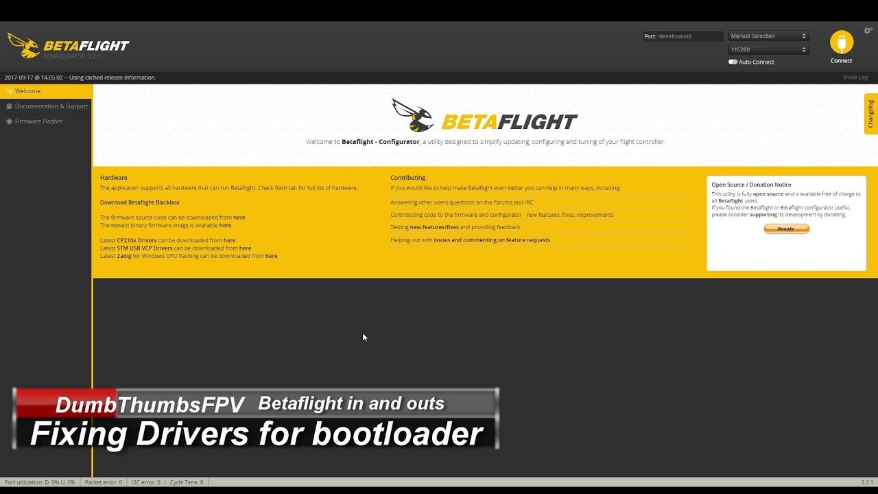 How to fix Betaflight Bootloader won't connect failed to