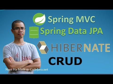 Spring MVC + Spring Data JPA + Hibernate - CRUD Example