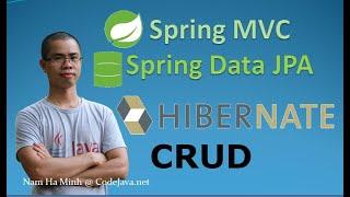 Spring MVC + Spring Data JPA + Hibernate - CRUD Sample Project