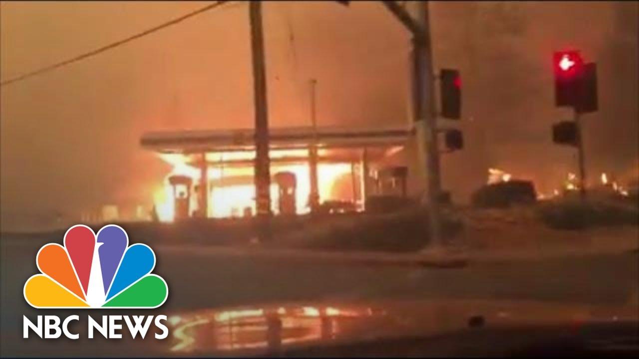 Paradise Resident Films Escape As Camp Fire Destroys Town | NBC News
