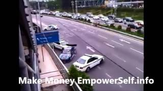 Awakward police chase gone good