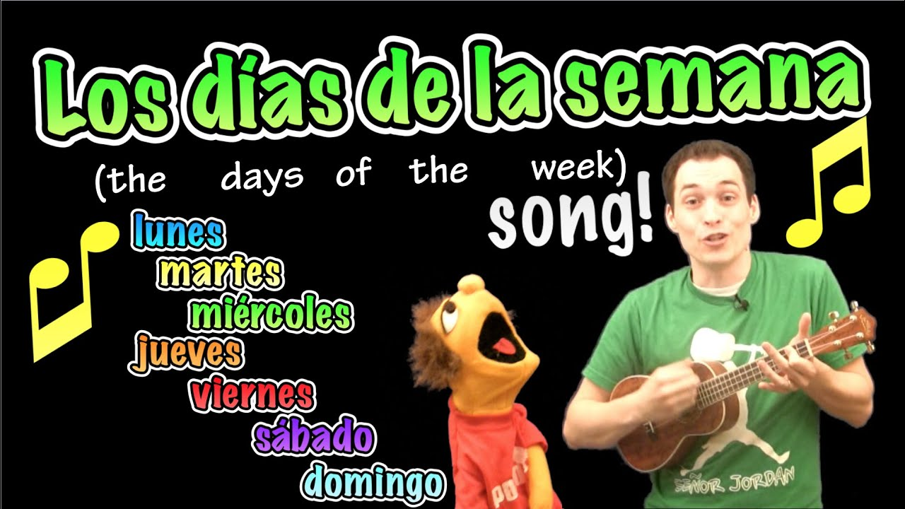 Days of the Week in Spanish Song! - YouTube