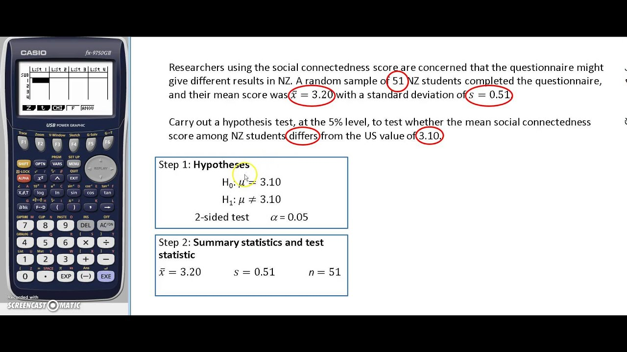 STAT193 large sample hypothesis test for the mean using a ...