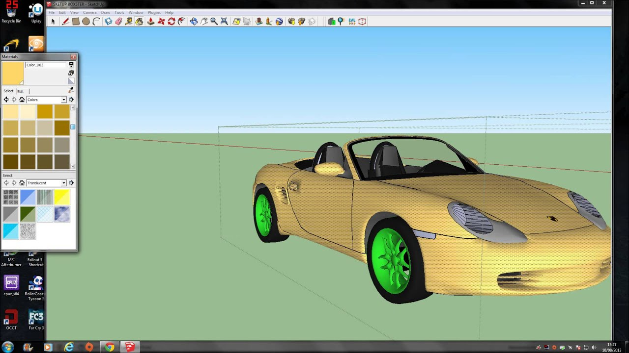 Import 3ds models to cryengine 3 using google sketchup for Sketchup import