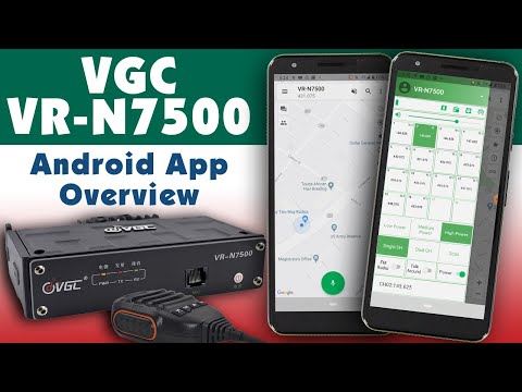 Android App Overview For VGC VR-N7500 Mobile Amateur Radio
