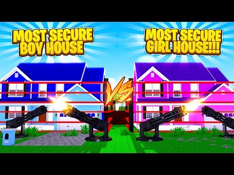 MOST INSANE SECURE GIRL HOUSE VS SECURE BOY HOUSE - Boy Vs Girl w/TinyTurtle