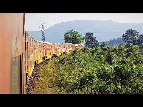 Fantastic Konkan Railway Journey - Goa to Mumbai on board the Double Decker A.C. Express