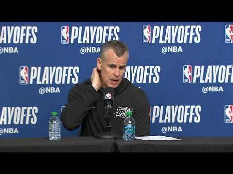 Billy Donovan Postgame Interview | Thunder vs Jazz - Game 4 | April 23, 2018 | 2018 NBA Playoffs