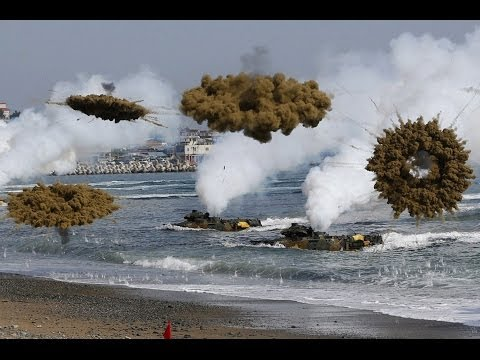World War 3 : Tensions High as North and South Korea exchange fire across border (Mar 31, 2014)