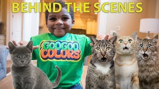BEHIND THE SCENE: GOO GOO GAGA MAGICALLY APPEAR 10 PET CATS! LEARN TO SPELL!