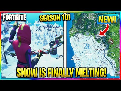 FORTNITE: *NEW* SNOW BIOME IS MELTING! | Fortnite Season X News
