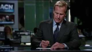The Newsroom S2 Ep1- Will McAvoy singing Friday and Control Room screw up