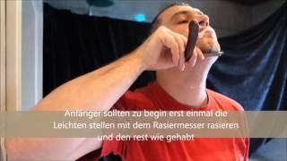 Rasieren mit einem Rasiermesser von TAK tuning Knife