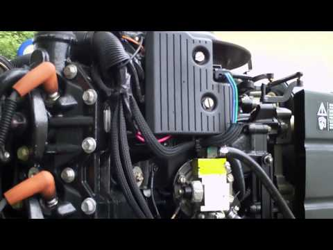225 Evinrude Ficht Injection Outboard Idling - YouTube