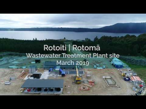 Wastewater Treatment Plant site footage - March 2019