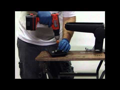 How to replace VW armrest lid HINGES.