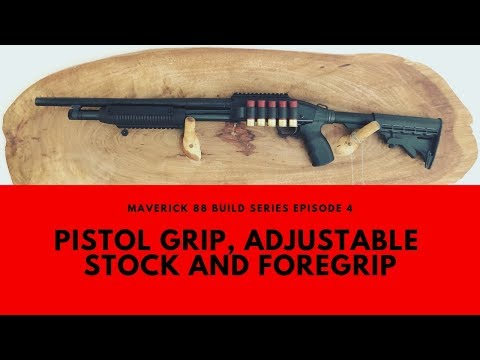 Maverick 88 Pistol Grip, Adjustable Stock And Foregrip