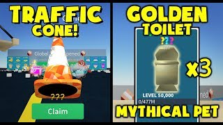 MYTHICAL Traffic Cone! - MYTHICAL Golden Toilet Pets! - Roblox Unboxing Simulator